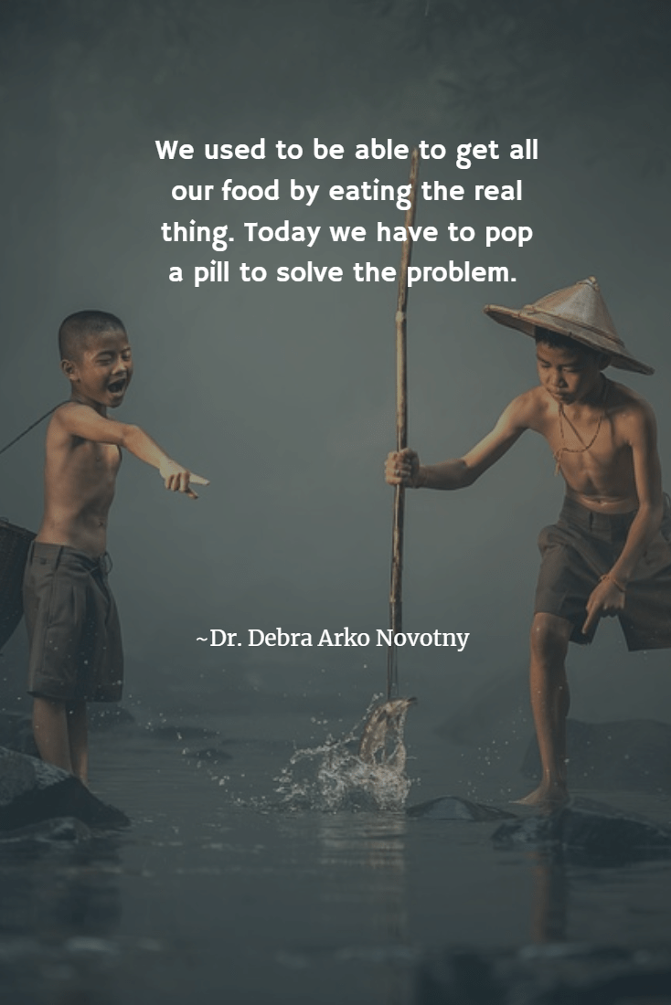 Debra Novotny quote about health and eating fish.