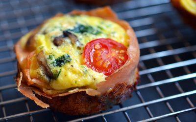Mini Prosciutto Egg Frittatas Recipe