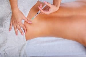 Sciatica or low back acupuncture injection therapy