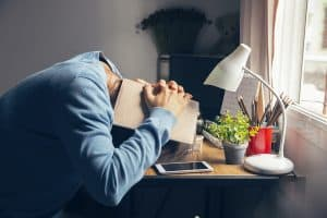 Stressed Businesswoman Frustrated And Upset In Business Pressure